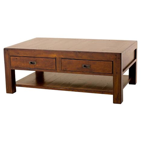 wooden coffee table post rail reclaimed pine coffee table buy wooden