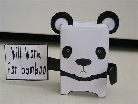 paper craft panda panda preservation papercraft by may7733 on deviantart