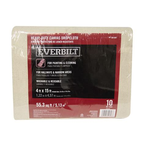 home depot paint drop cloth sigman 5 ft 9 in x 8 ft 9 in 8 oz canvas drop cloth