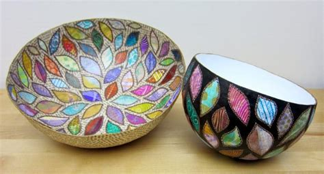 paper mache arts and crafts how to make paper mache bowls simple craft ideas