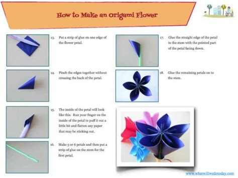 easy sticky note origami how to make a special origami flower