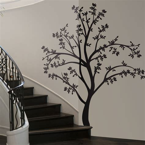 black tree wall sticker lot 26 studio silhouette tree wall decal fab