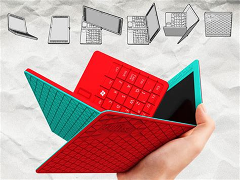 how to make a origami computer fujitsu s folding origami laptop doubles as tablet is