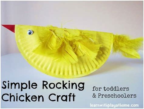 paper plate chicken craft simple paper plate rocking chicken easter craft for