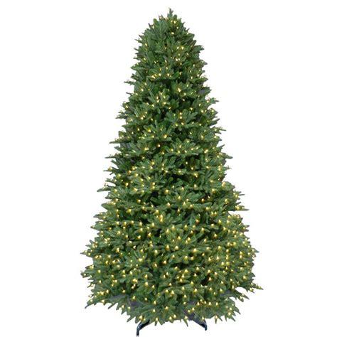 balsam pine artificial tree 9 ft pre lit led balsam fir artificial tree