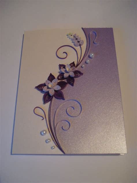 how to make paper birthday cards quilled paper handmade greeting card with flowers in lilac