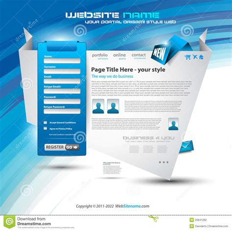 origami websites for origami website design stock photography image