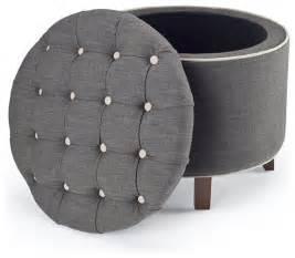 gray storage ottoman reims grey storage ottoman modern footstools and