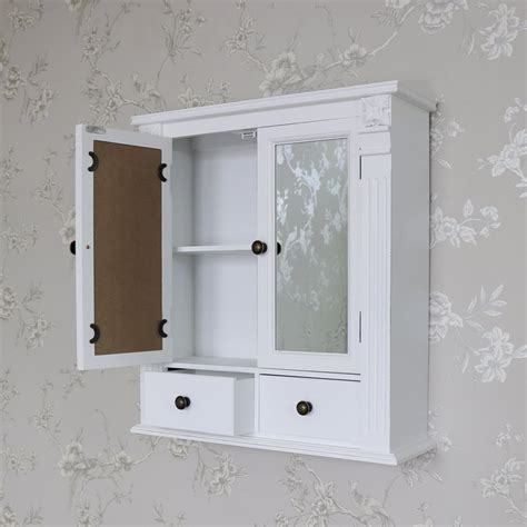 shabby chic bathroom cabinet with mirror white wooden mirrored bathroom wall cabinet shabby vintage