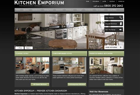 kitchen design websites kitchen emporium website design webdesign wigan