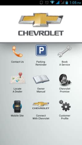 Car Apps For Android Chevrolet by Chevrolet Parking Reminder App Upcomingcarshq