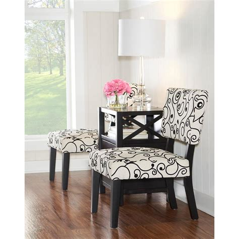 Black And White Accent Chairs by Black And White Accent Chair 36080bwc 01 Kd U The