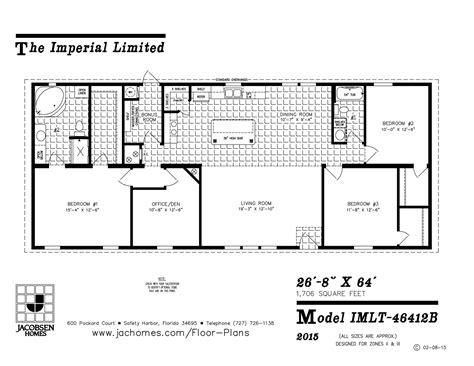 jacobsen mobile home floor plans 100 jacobsen mobile home floor plans the homerun