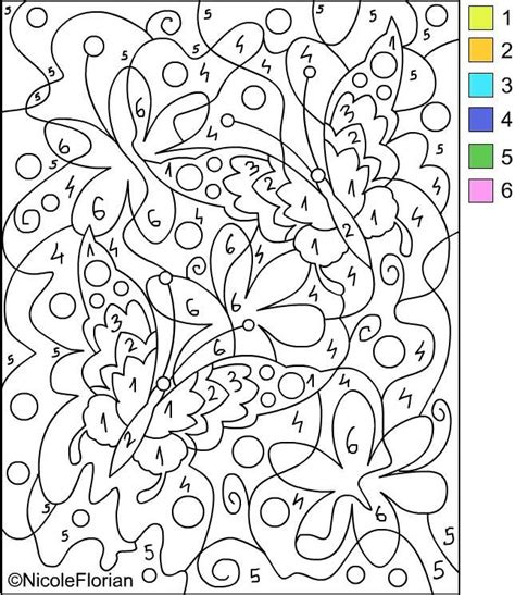 free printable paint by numbers for adults az coloring