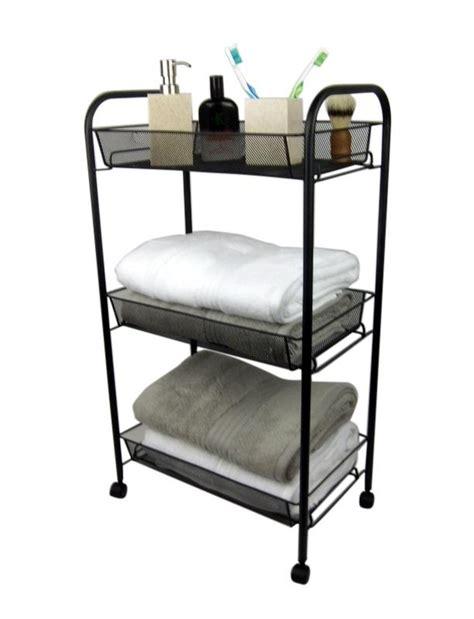 metal bathroom storage black bathroom storage trolley 3 tier toilet linen towel