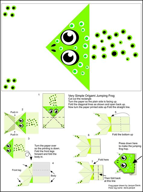 origami frog template origami frog pattern 171 embroidery origami