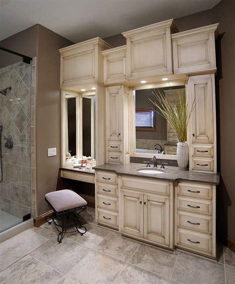 bathroom cabinets with makeup vanity custom bathroom vanities with makeup area woodworking