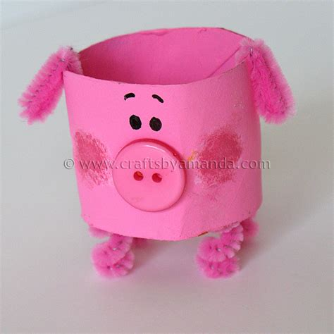 pig crafts for cardboard pig the farm series crafts by amanda
