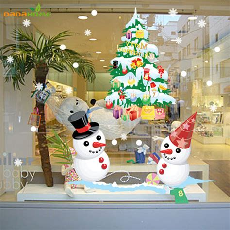 tree decorations for home the new shop window snowman tree wall