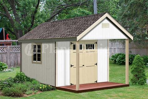 shed with porch plans free 16x20 ft guest house storage shed with porch plans p81620