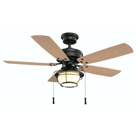 outdoor ceiling fan light kits hton bay shoreline 46 in iron indoor