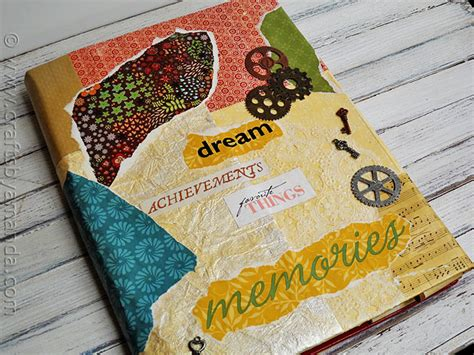 decoupage book cover book cover craft faux vinyl with mod podge