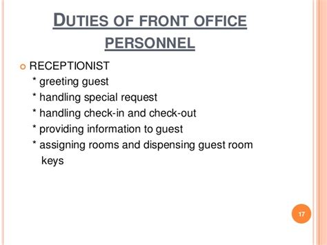 duties of a front desk officer duties of a front desk officer 28 images chapter 1