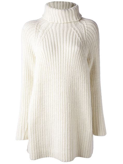 chunky knit sweaters carin wester chunky knit sweater in white lyst