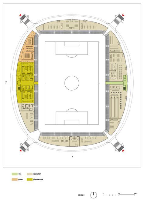 football stadium floor plan football stadium arena borisov ofis architects archdaily