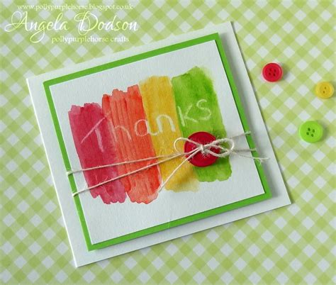 thank you crafts for project simple thank you card for to make