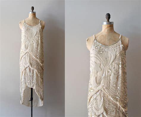 vintage beaded dresses 1920s dress beaded 20s dress diaphanous dress