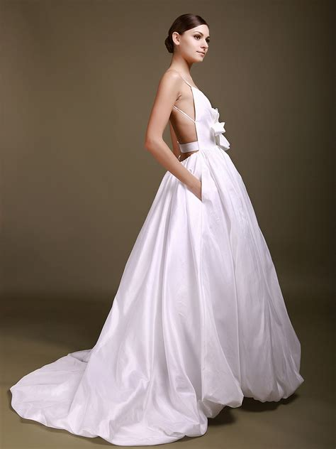wedding dresses gorgeous backless gown wedding dresses cherry
