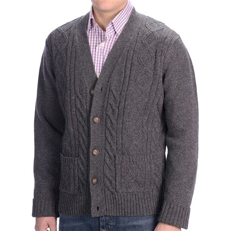 mens cable knit cardigan sweater gant n y cable knit cardigan sweater lambswool for