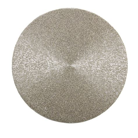 beaded placemats metal bead placemat huzza