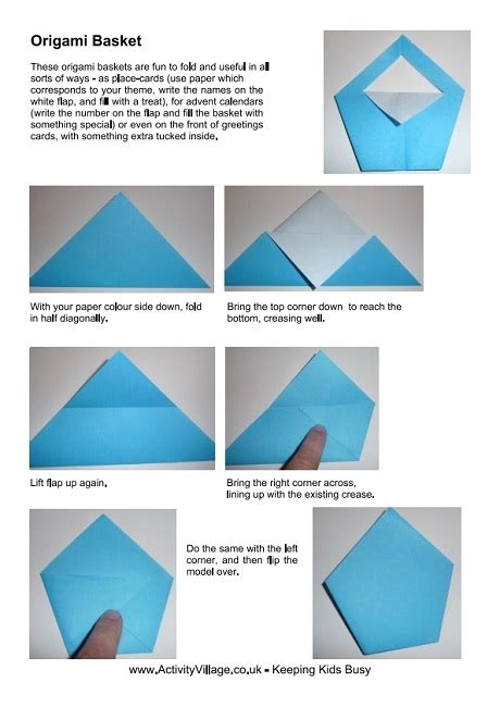 origami basket easy origami basket and photos