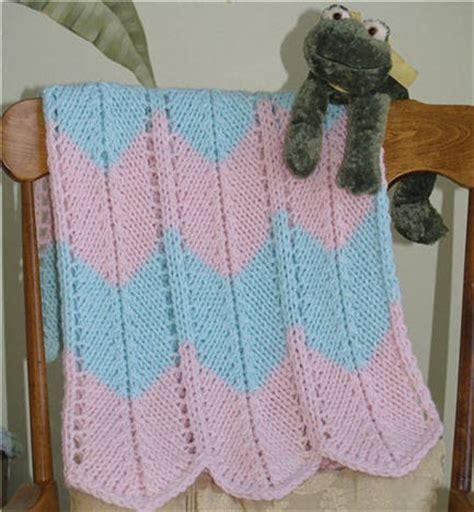 chevron baby blanket knitting pattern knitting nonstop chevron blanket knit version