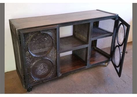 credenza glass doors credenza with glass rondel doors