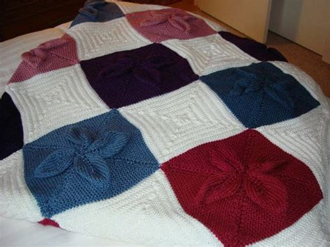 knitted squares for afghan knitted afghan multi colored squares on etsy 169 01