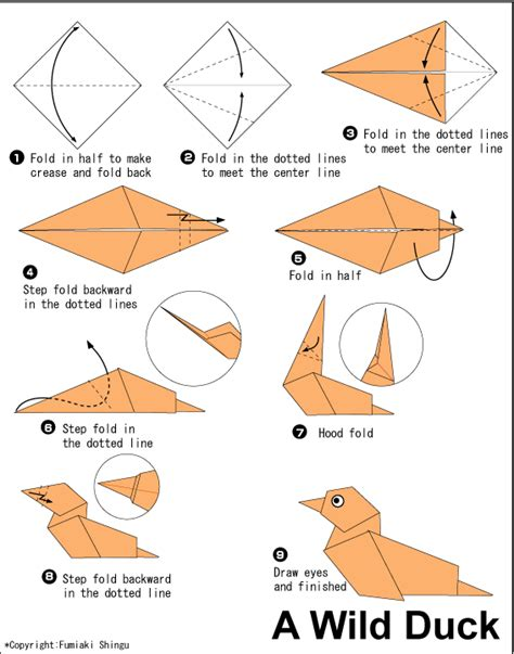 how to make paper animals origami duck easy origami for