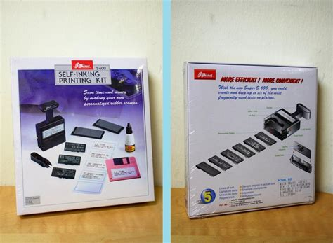 rubber st printing kit shiny self inking printing kit inst end 12 24 2016 9 12 pm