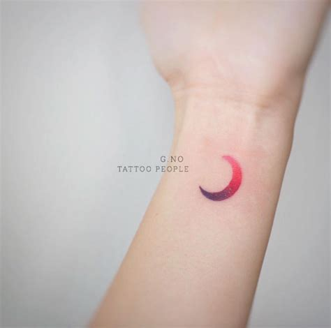the purple moon and 30 more moon tattoos