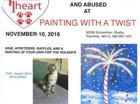 paint with a twist fundraiser nov 10 4 paws 1 fundraiser painting with a twist