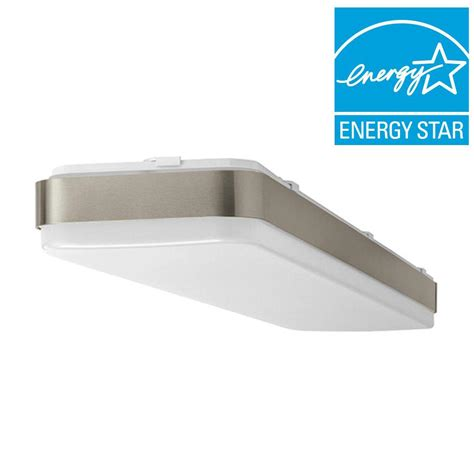 brushed nickel ceiling lights commercial electric 1 ft x 4 ft white led edge lit flat