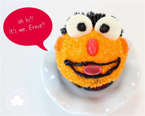 rubber sts sesame sesame ernie cupcakes allfreekidscrafts