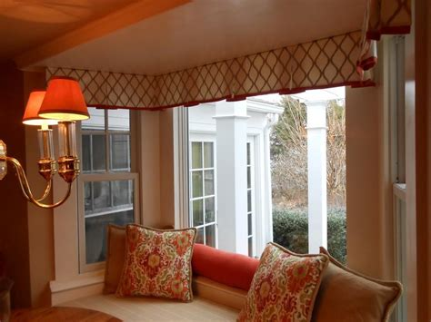 Window Treatment Ideas For Bow Windows custom window valances select color according to your