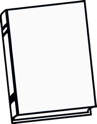 outline picture of a book outline of book cover clipart best