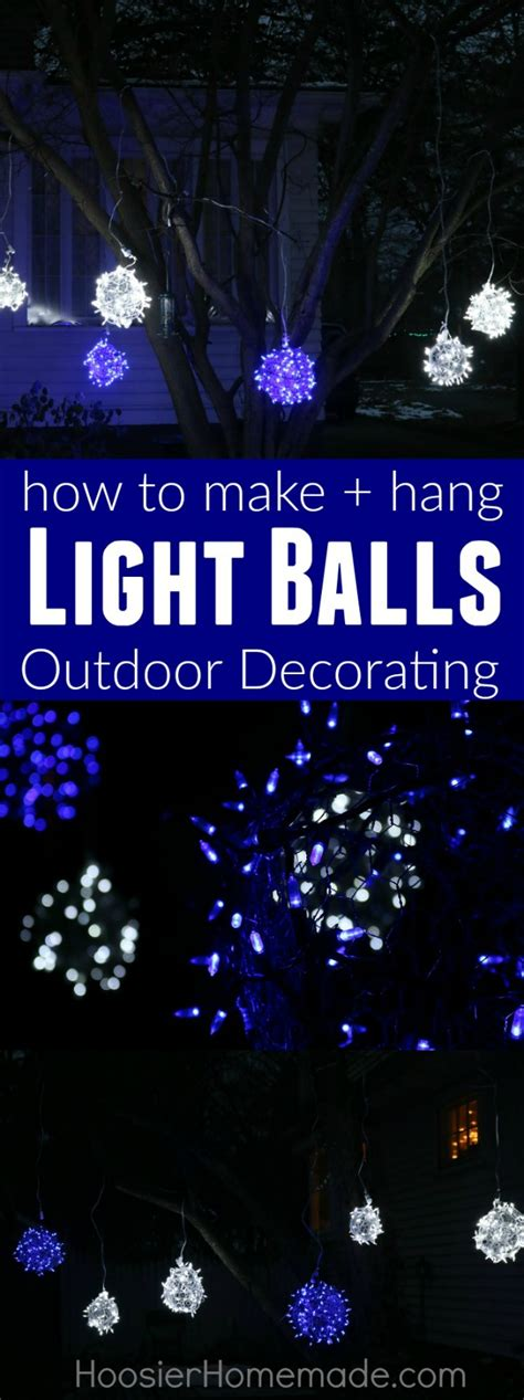 how to make outdoor balls outdoor light balls photo album tree