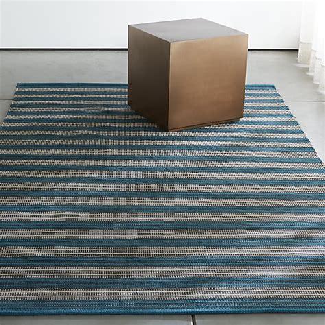 outdoor striped rug sachi teal stripe indoor outdoor rug crate and barrel
