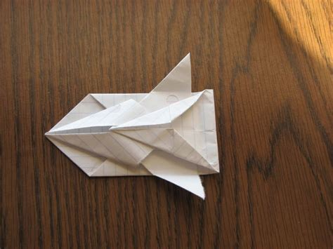 origami spaceship how to make a paper space ship