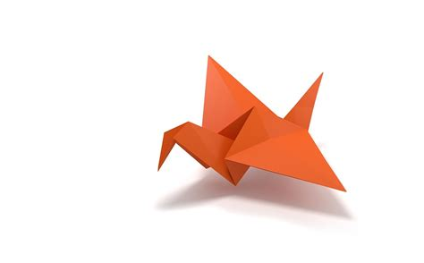 origami of free illustration origami folding paper bird flying